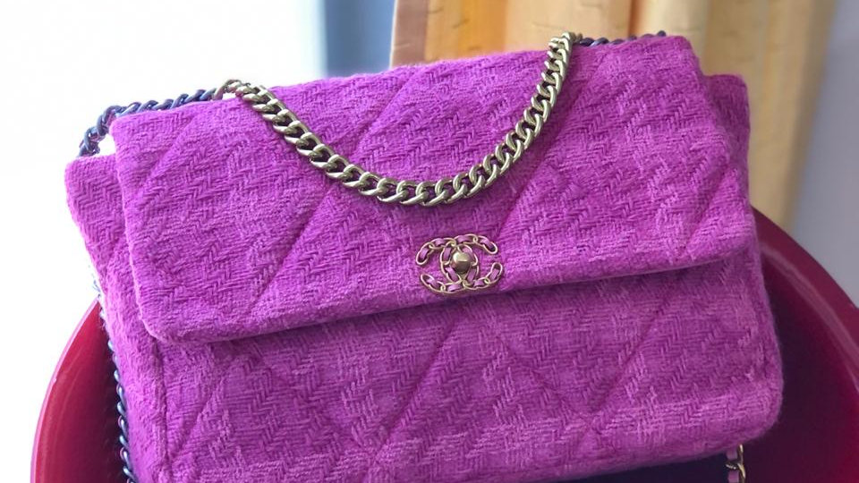 Chanel 19 tweed Pink