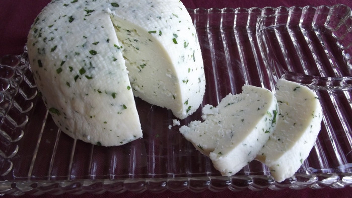 Homemade soft cheese