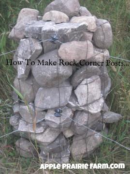 How to make rock corner posts