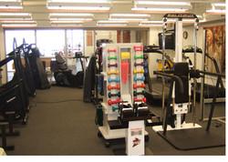 The rehabilitation/fitness room
