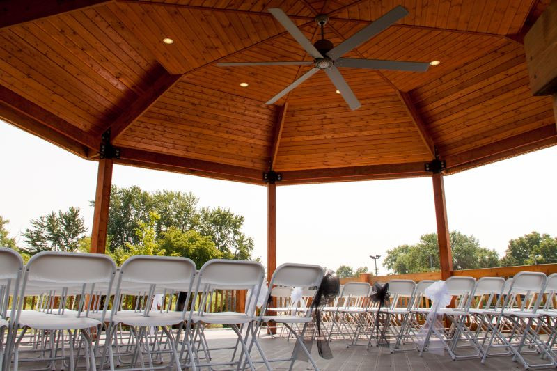 Fountain Hall outdoor gazebo ceremony seating