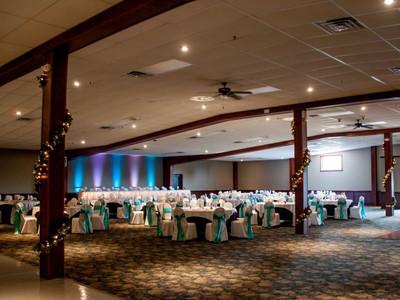 Fountain hall wedding reception