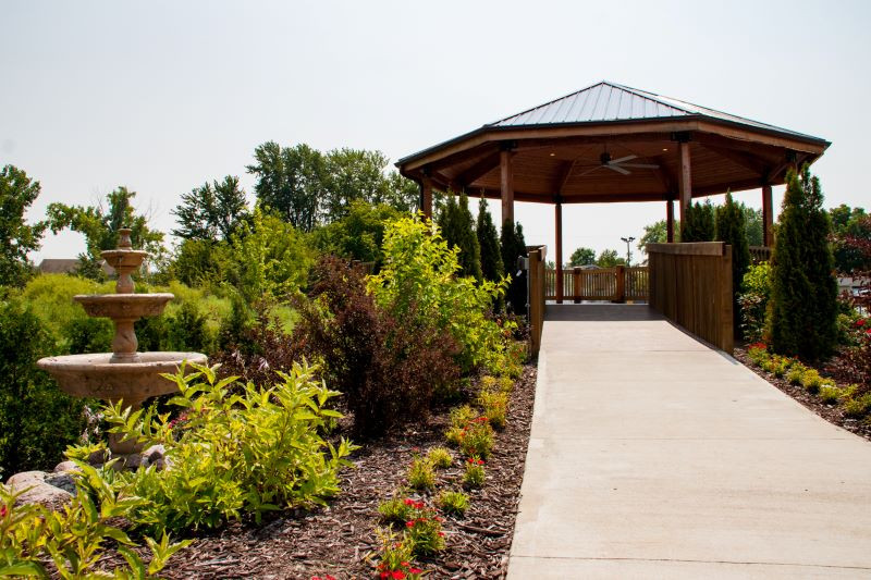 Fountain Hall outdoor gazebo