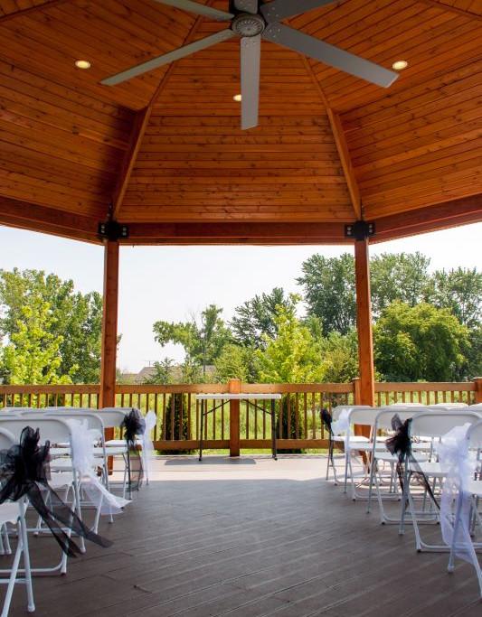 Fountain Hall outdoor gazebo seating