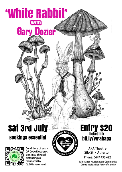 3rd July 2021 - White Rabbit with Gary D