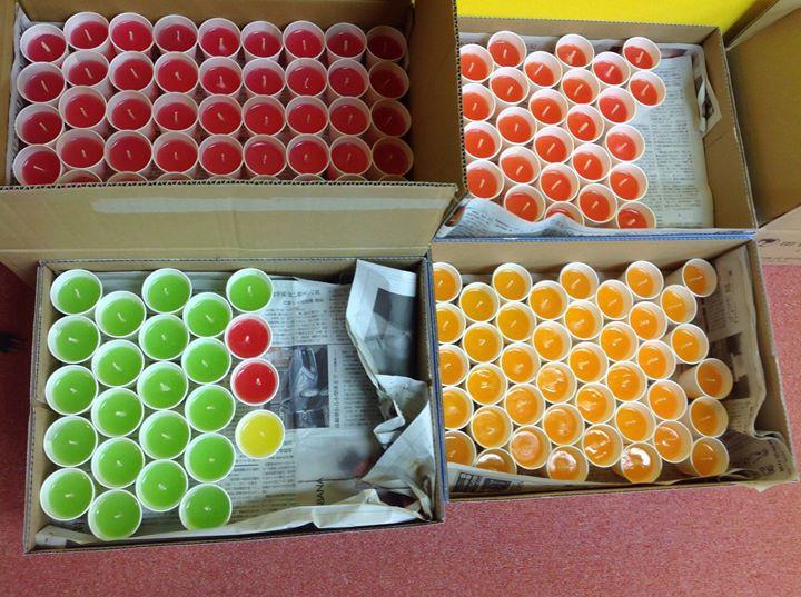 Facebook - 4月18日(土)、アースデイ東京@代々木公園では、夜からキャンドルナイトを予定しています。天ぷら油キャンドル500個土、日で作りました。あ