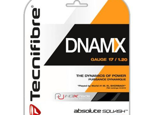 Technifibre Dynamix Squash Strings, 17 Gauge, Single Pack