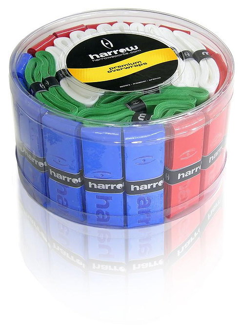 Harrow Over Wrap Grip Container with 60 Assorted Colors