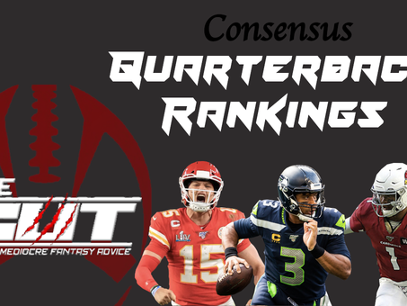 Consensus 2020 Fantasy Quarterback Rankings