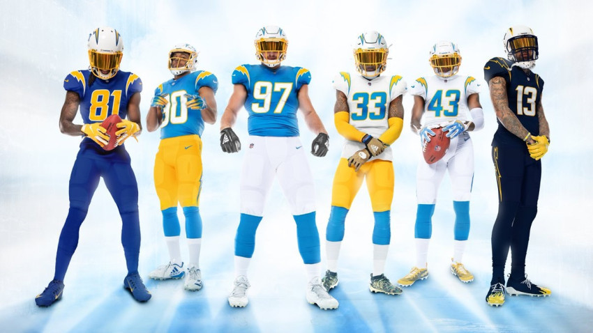 chargers-new-uniforms