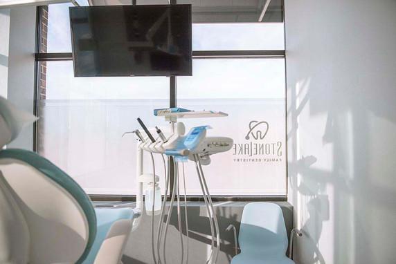 Stonelake Family Dentistry window graphics from inside.jpeg