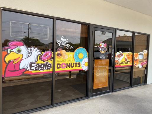 Custom Window Graphic for Donut Shops