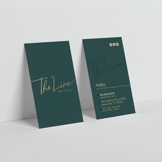 THE LINE HAIR PREMIUM BUSINESS CARDS