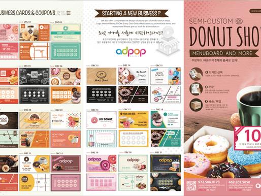 Semi-Customizable Templates for Donut Shop Essentials