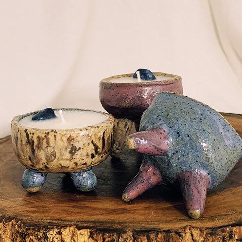 Mini vela na cerâmica O Barroca Atelier