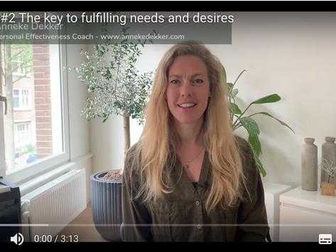 Vlog#2 The Key to Fulling Needs and Desires