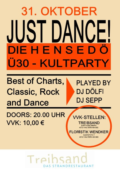 HenSeDö ü30 Party - Just dance - 31.10.2017