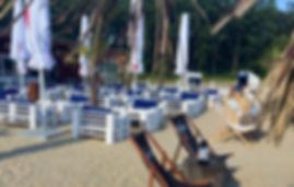 Außenbereich Strand Loungemöbel Biergarten Treibsand