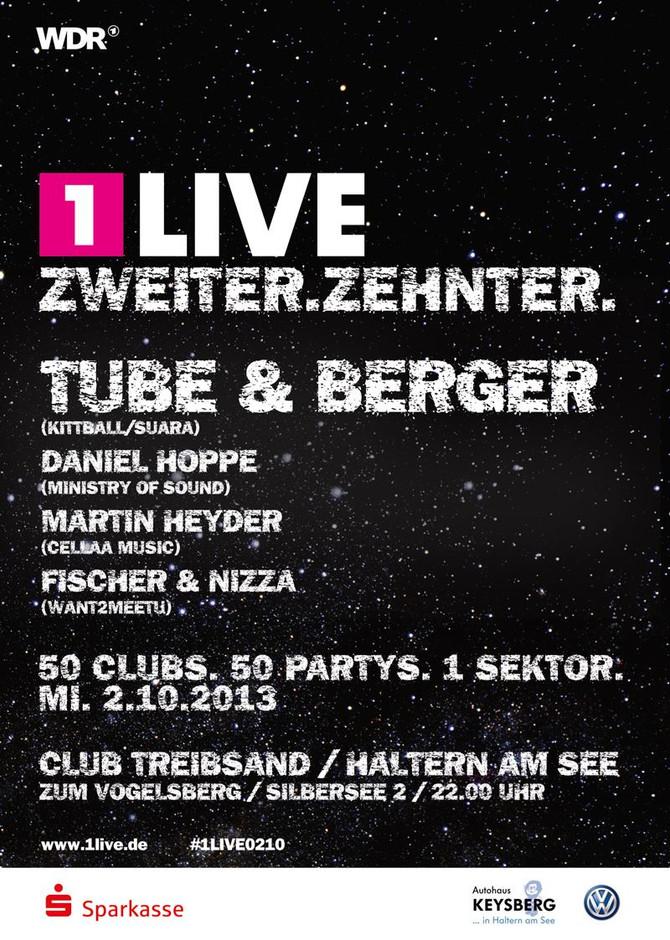 1Live ZWEITER ZEHNTER ft. Tube und Berger 02.10.2013