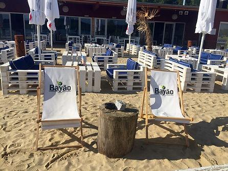 Strand Außenbereich Biergarten Terasse Treibsand