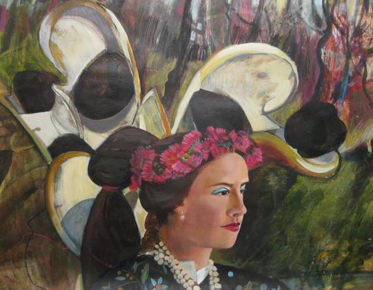 Mixed media acrylic painting