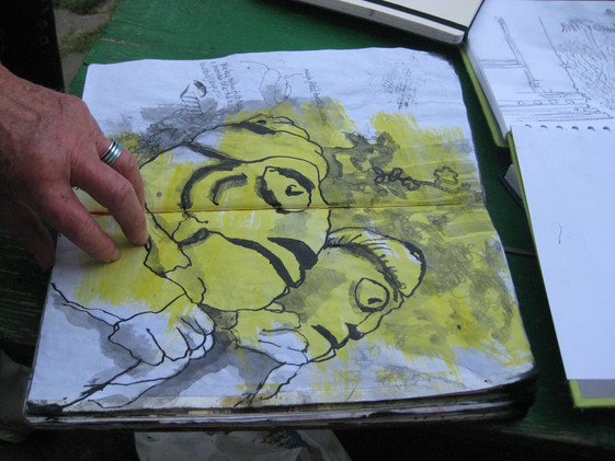 Romania - sketchbook drawing