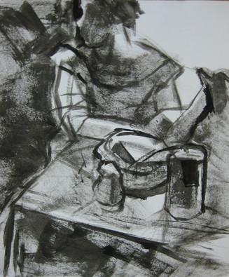 Mixed media drawing