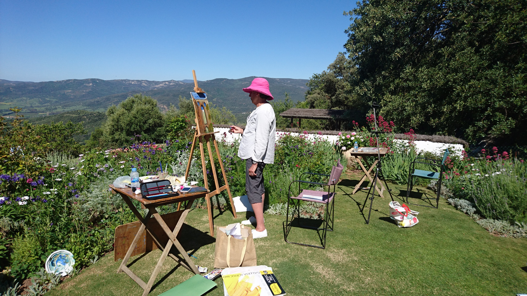 Painting in the garden