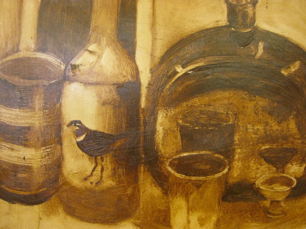Tonal oil painting