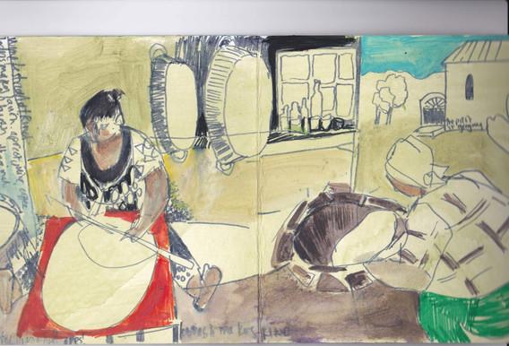 Armenia - sketchbook drawing