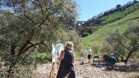 Painting at El Tajo, Puente Nuevo, Ronda