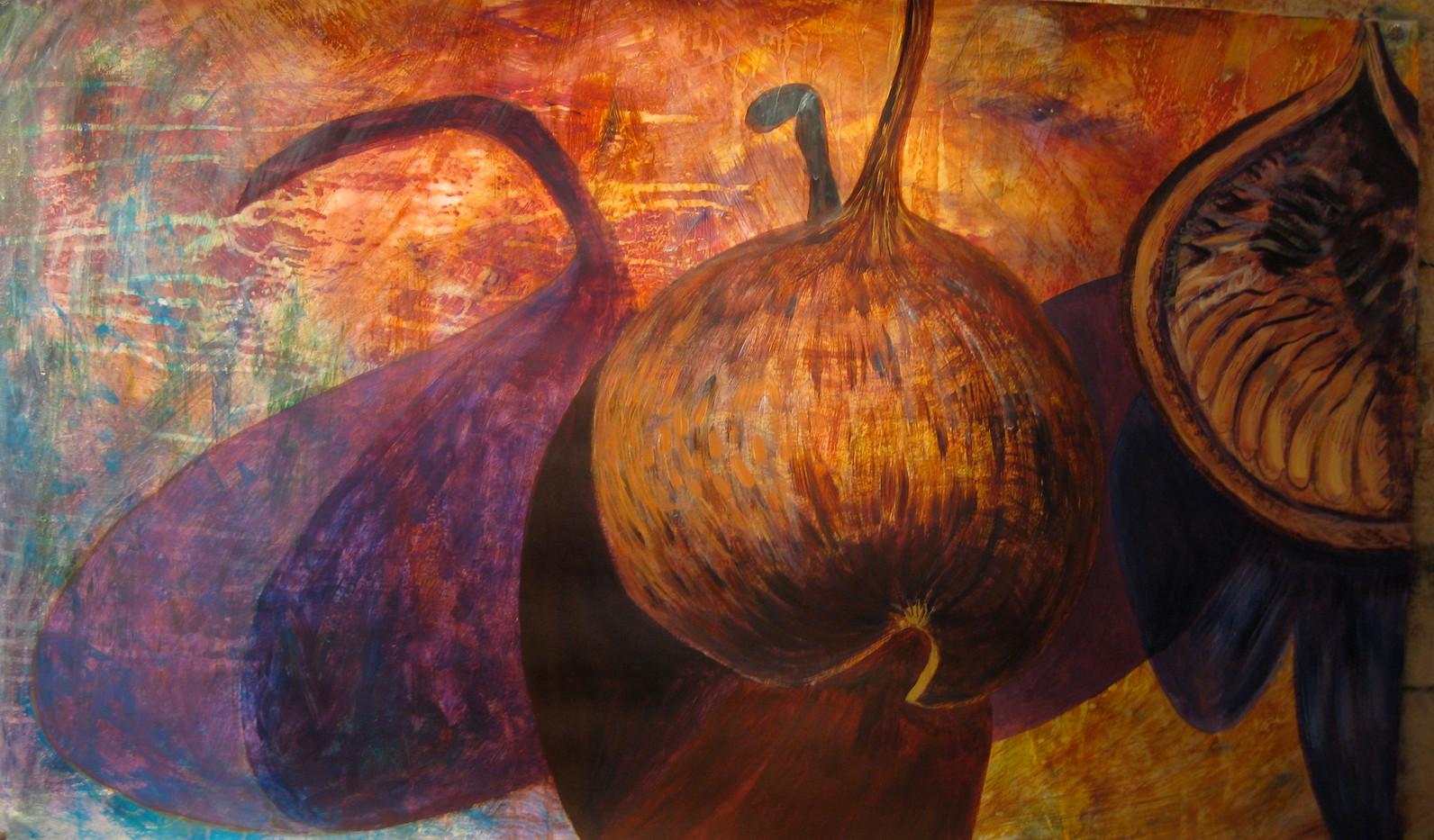 Mixed media painting