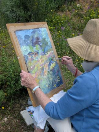 Watercolour in situ