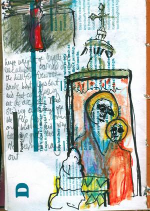 Ethiopia sketchbook drawing