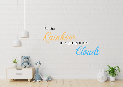 Be the Rainbow wall decal