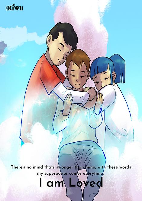 'I AM LOVED' poster