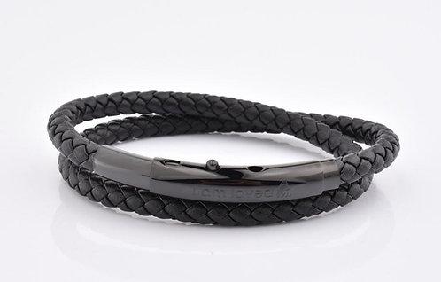 Black Clasp/Black Leather 'I am Loved' - adult