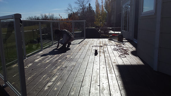 scraping a deck