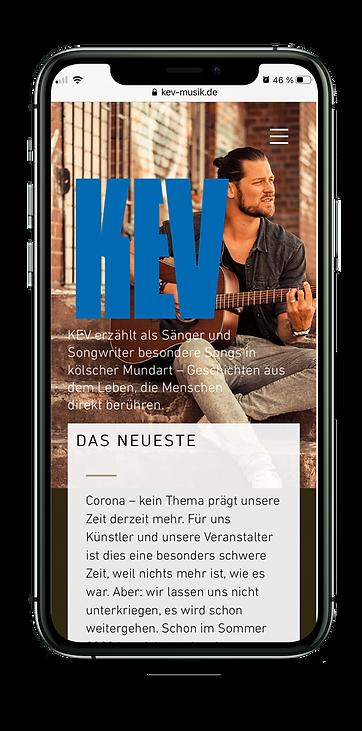 KEV – mobile Website