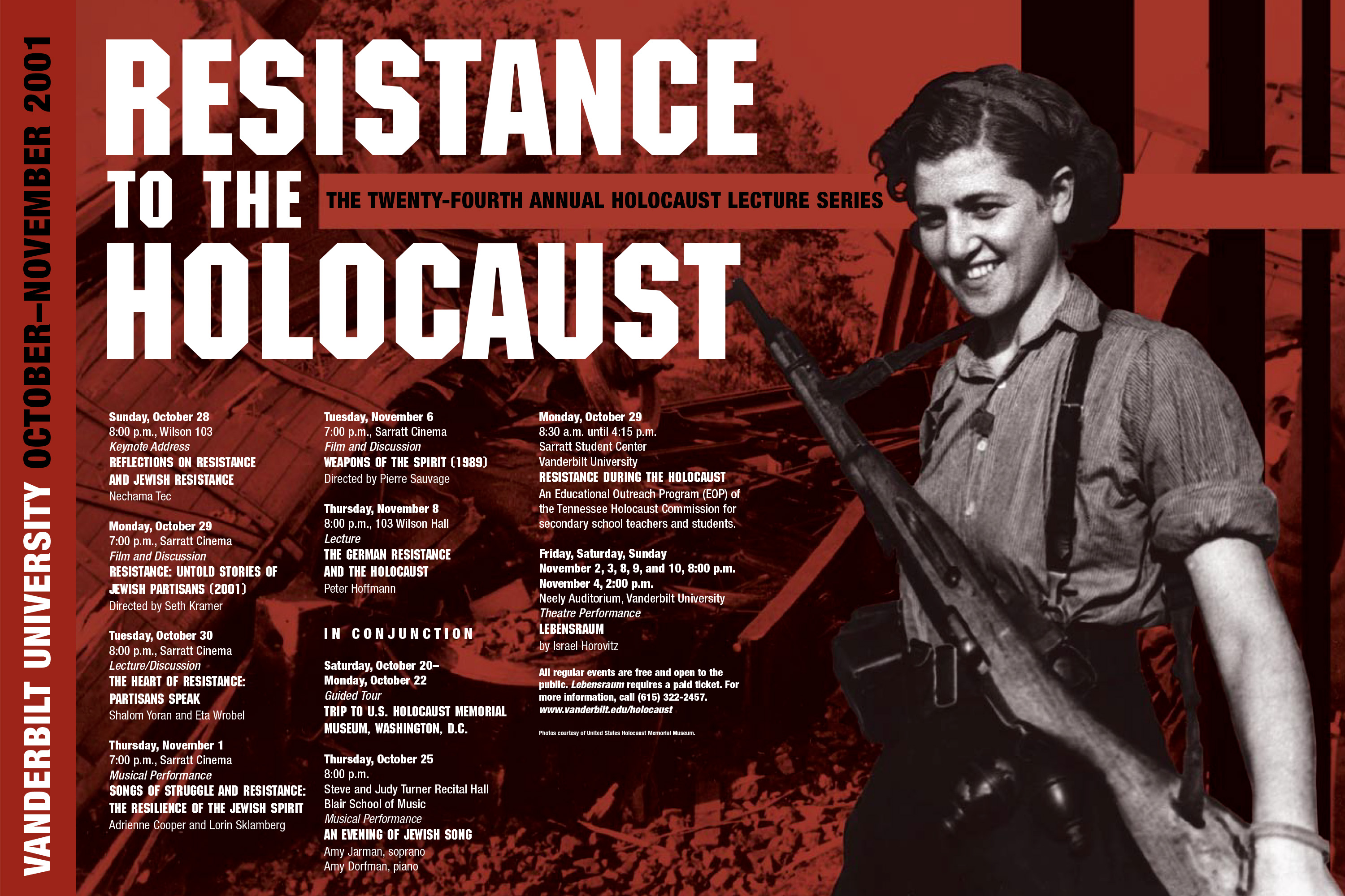 Holocaust Lecture Series poster