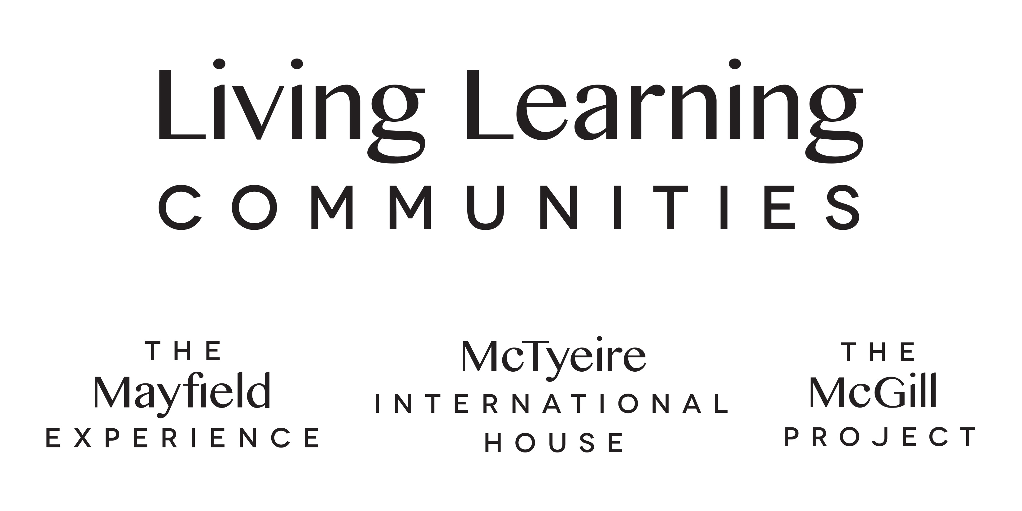 Living Learning Communities wordmark