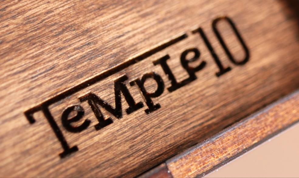 Temple10 horizontal logo