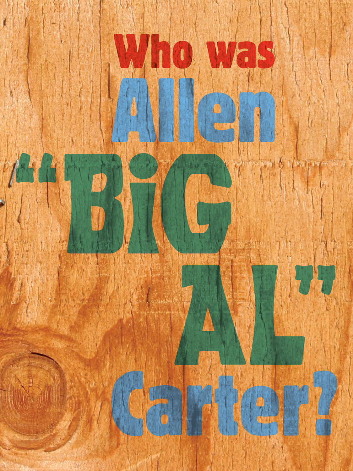 Allen B. Carter exhibit brochure