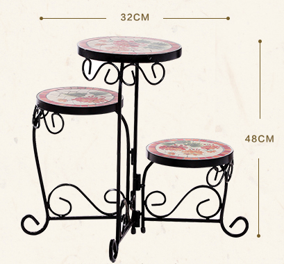 American Country Home Three-layer Foldable Flower Stand