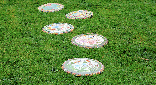 High-end Courtyard Decoration Ornaments Outdoor Garden Pedal Stepping Stone
