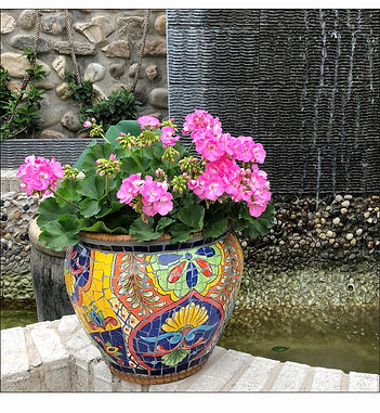 Exotic Style Outdoor Ceramic Flower Pots