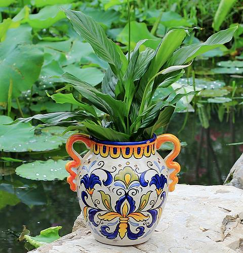 American Style Rural Hand-painted Ceramic Vase