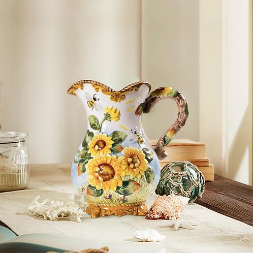 Sunflower Ceramic Jug Vase