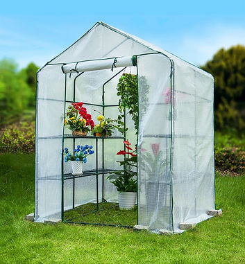 Outdoor Heat Preservation and Rain Shelter Shelf Greenhouse
