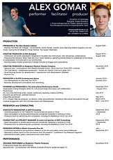 Alex Gomar CV (Production, Research, Per